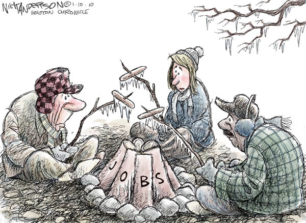 Cartoonist Nick Anderson  Nick Anderson's Editorial Cartoons 2010-01-10 unemployment