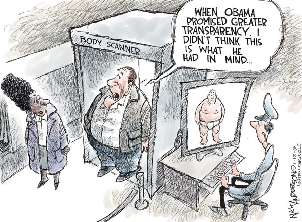 Nick Anderson  Nick Anderson's Editorial Cartoons 2010-01-12 airport security checkpoint