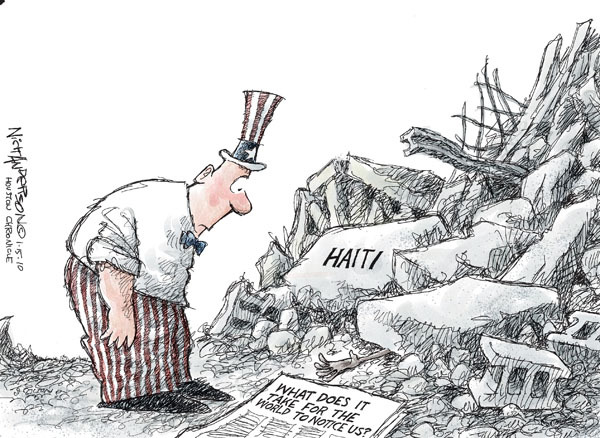Cartoonist Nick Anderson  Nick Anderson's Editorial Cartoons 2010-01-15 disaster