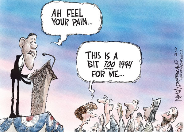 Cartoonist Nick Anderson  Nick Anderson's Editorial Cartoons 2010-01-26 Bill Clinton