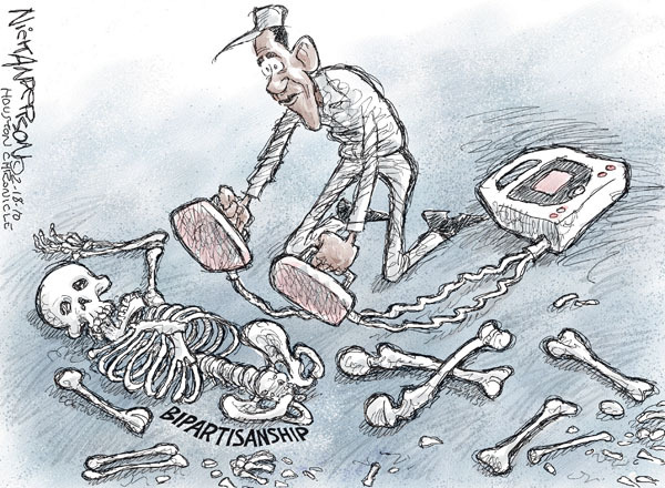 Nick Anderson  Nick Anderson's Editorial Cartoons 2010-02-18 bipartisanship