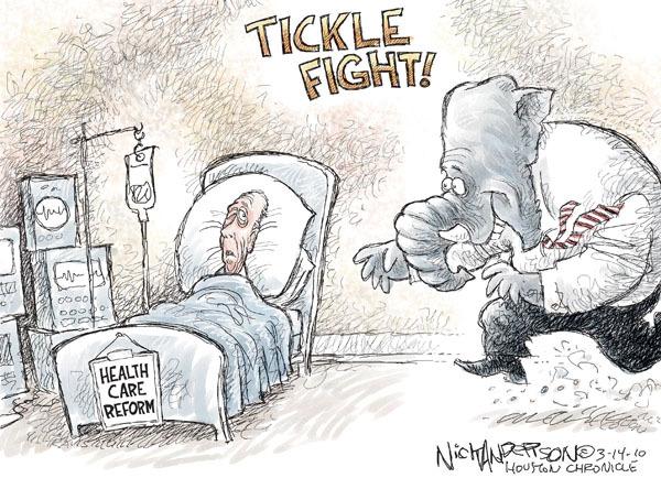 Cartoonist Nick Anderson  Nick Anderson's Editorial Cartoons 2010-03-14 congress health care