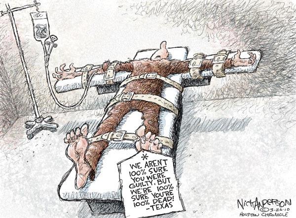 Cartoonist Nick Anderson  Nick Anderson's Editorial Cartoons 2010-03-26 death penalty