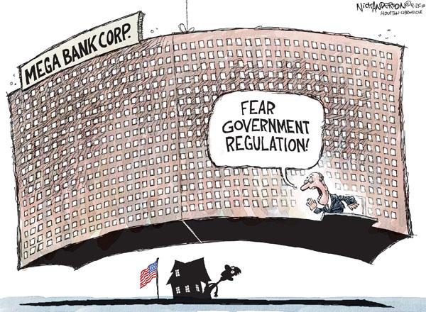 Cartoonist Nick Anderson  Nick Anderson's Editorial Cartoons 2010-04-25 regulation
