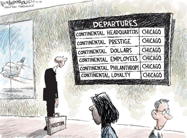 Nick Anderson  Nick Anderson's Editorial Cartoons 2010-05-04 United Airlines