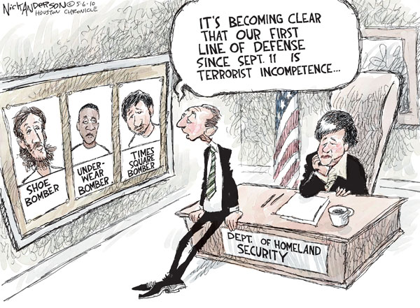 Nick Anderson  Nick Anderson's Editorial Cartoons 2010-05-06 defense department