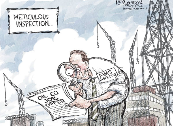 Cartoonist Nick Anderson  Nick Anderson's Editorial Cartoons 2010-05-27 regulation