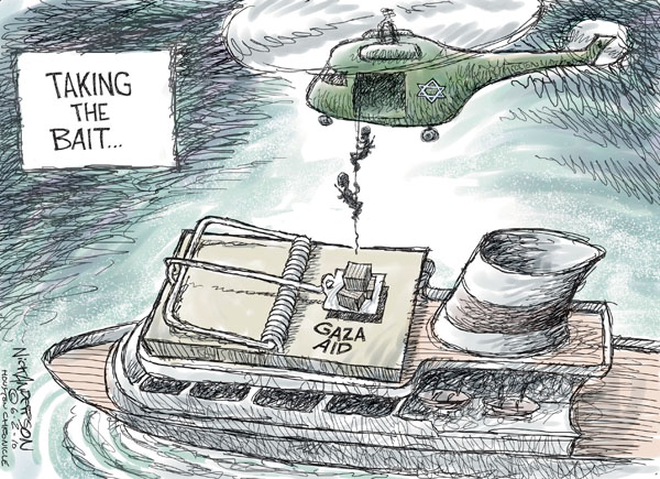 Cartoonist Nick Anderson  Nick Anderson's Editorial Cartoons 2010-06-02 Israel