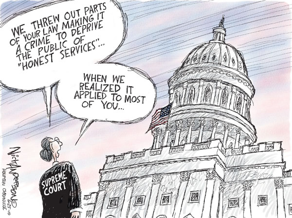 Nick Anderson  Nick Anderson's Editorial Cartoons 2010-06-25 political corruption