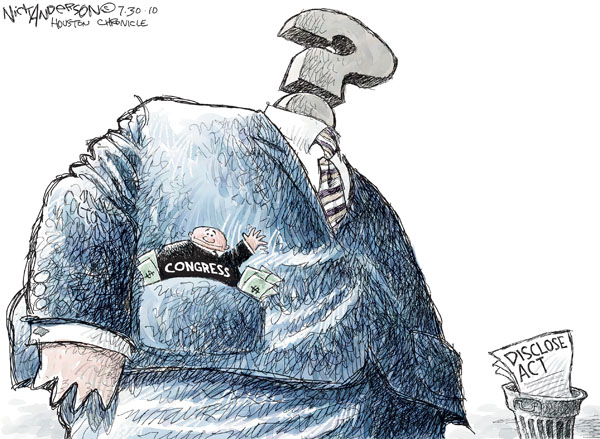 Nick Anderson  Nick Anderson's Editorial Cartoons 2010-07-30 political ethics