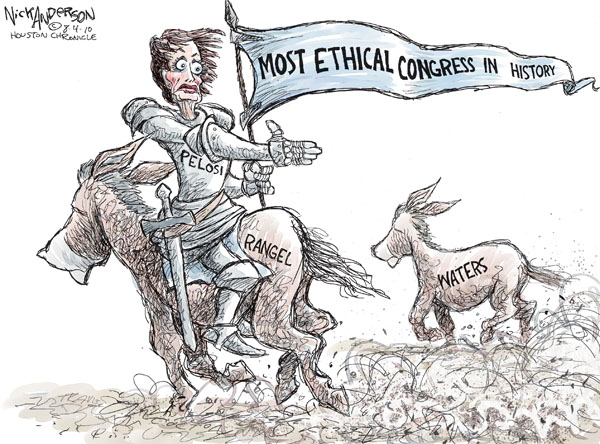 Nick Anderson  Nick Anderson's Editorial Cartoons 2010-08-04 congressional ethics