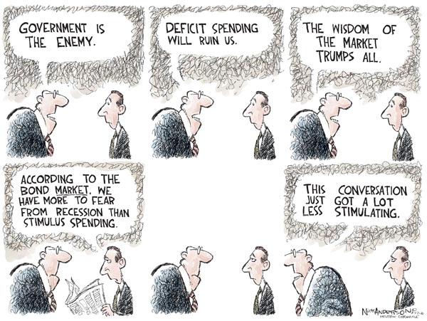 Cartoonist Nick Anderson  Nick Anderson's Editorial Cartoons 2010-08-17 recession