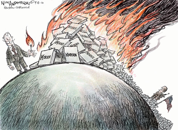 Cartoonist Nick Anderson  Nick Anderson's Editorial Cartoons 2010-09-08 fire