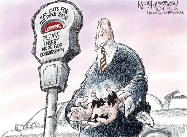 Nick Anderson  Nick Anderson's Editorial Cartoons 2010-09-17 tax cut