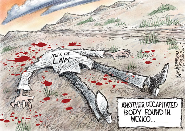 Nick Anderson  Nick Anderson's Editorial Cartoons 2010-10-14 rule of law