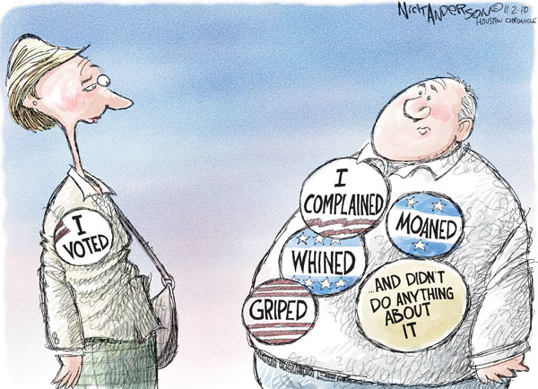 Nick Anderson  Nick Anderson's Editorial Cartoons 2010-11-02 democracy
