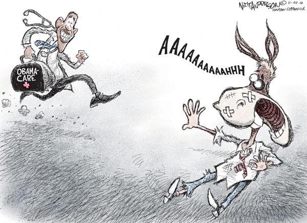 Cartoonist Nick Anderson  Nick Anderson's Editorial Cartoons 2010-11-03 health