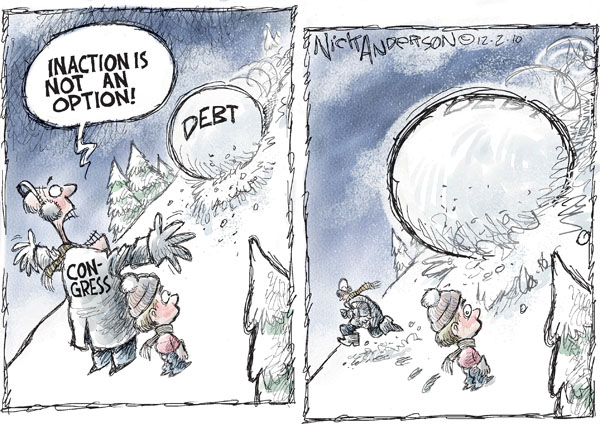 Cartoonist Nick Anderson  Nick Anderson's Editorial Cartoons 2010-12-02 government debt