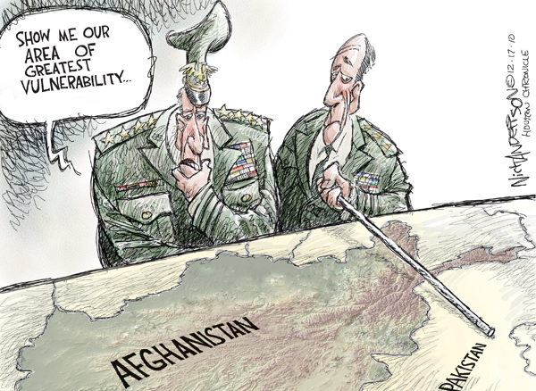 Nick Anderson  Nick Anderson's Editorial Cartoons 2010-12-17 military strategy