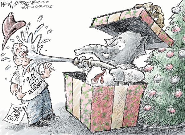 Cartoonist Nick Anderson  Nick Anderson's Editorial Cartoons 2010-12-19 health care cost