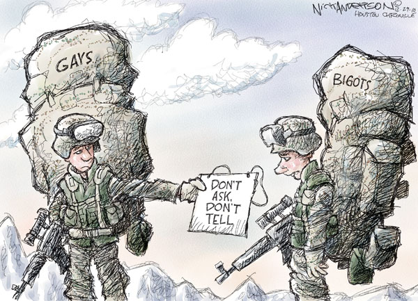 Cartoonist Nick Anderson  Nick Anderson's Editorial Cartoons 2010-12-29 armed