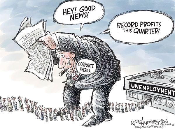 Cartoonist Nick Anderson  Nick Anderson's Editorial Cartoons 2011-01-09 unemployment