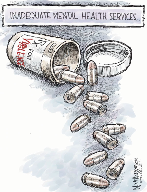 Cartoonist Nick Anderson  Nick Anderson's Editorial Cartoons 2011-01-16 mental health