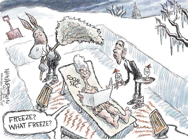 Cartoonist Nick Anderson  Nick Anderson's Editorial Cartoons 2011-01-26 social security