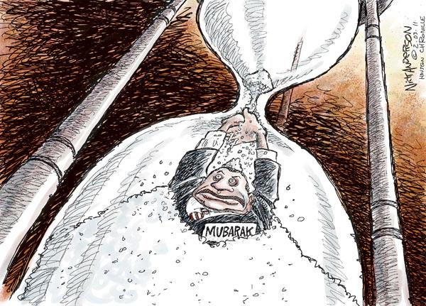 Cartoonist Nick Anderson  Nick Anderson's Editorial Cartoons 2011-02-03 hourglass