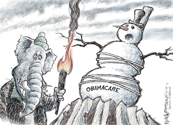 Cartoonist Nick Anderson  Nick Anderson's Editorial Cartoons 2011-02-04 health care