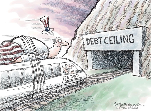Cartoonist Nick Anderson  Nick Anderson's Editorial Cartoons 2011-02-11 Government Spending