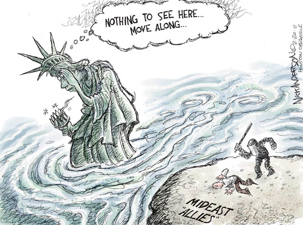 Cartoonist Nick Anderson  Nick Anderson's Editorial Cartoons 2011-02-20 human rights