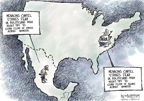 Cartoonist Nick Anderson  Nick Anderson's Editorial Cartoons 2011-03-04 NRA