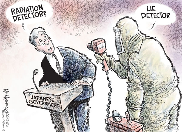 Cartoonist Nick Anderson  Nick Anderson's Editorial Cartoons 2011-03-18 Japan