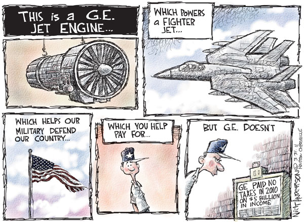 Nick Anderson  Nick Anderson's Editorial Cartoons 2011-03-31 military spending