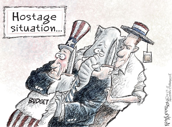 Cartoonist Nick Anderson  Nick Anderson's Editorial Cartoons 2011-04-17 government debt