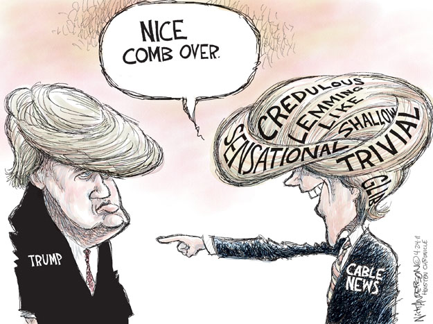 Cartoonist Nick Anderson  Nick Anderson's Editorial Cartoons 2011-04-24 cable news