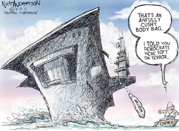 Cartoonist Nick Anderson  Nick Anderson's Editorial Cartoons 2011-05-03 Dick Cheney