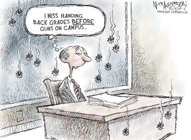 Cartoonist Nick Anderson  Nick Anderson's Editorial Cartoons 2011-05-05 college campus