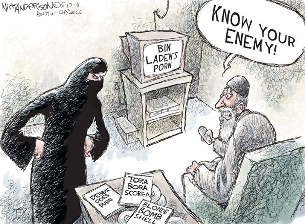 Cartoonist Nick Anderson  Nick Anderson's Editorial Cartoons 2011-05-17 Al Qaeda