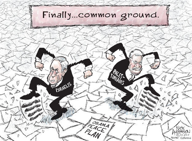 Cartoonist Nick Anderson  Nick Anderson's Editorial Cartoons 2011-05-24 Israel