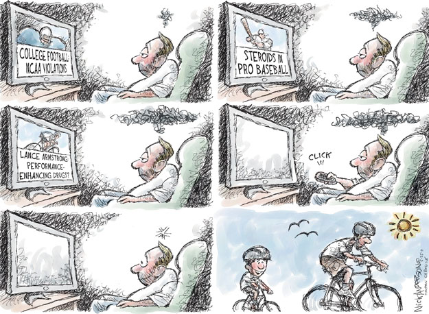 Cartoonist Nick Anderson  Nick Anderson's Editorial Cartoons 2011-05-25 college sports