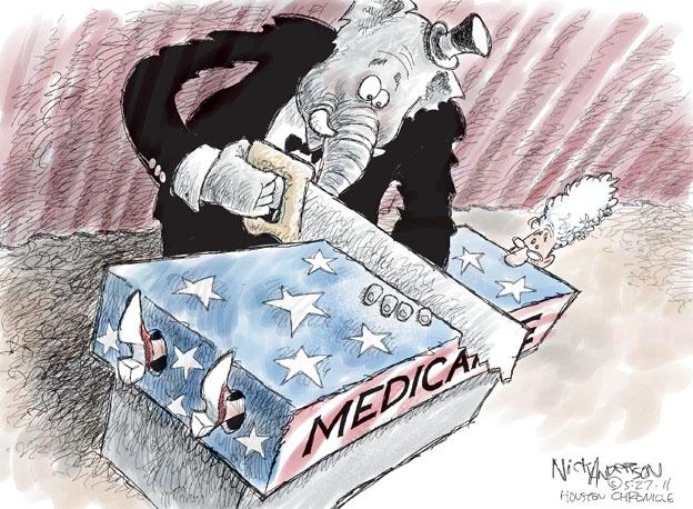 Cartoonist Nick Anderson  Nick Anderson's Editorial Cartoons 2011-05-27 health care