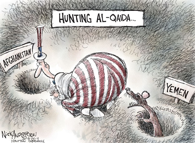 Cartoonist Nick Anderson  Nick Anderson's Editorial Cartoons 2011-06-14 Al Qaeda
