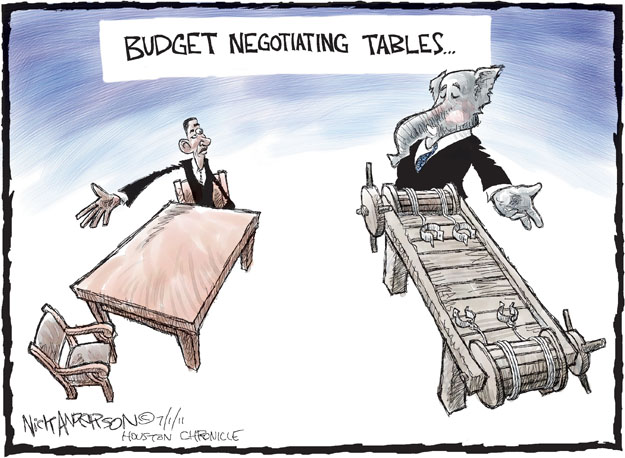 Nick Anderson  Nick Anderson's Editorial Cartoons 2011-07-01 federal budget
