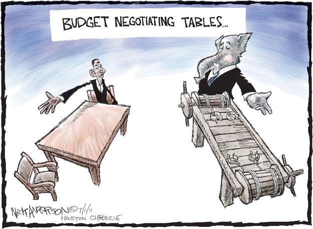 Cartoonist Nick Anderson  Nick Anderson's Editorial Cartoons 2011-07-01 federal debt