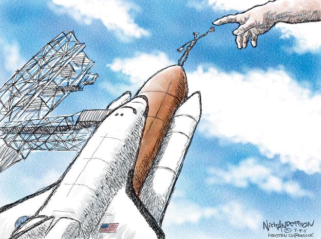 Cartoonist Nick Anderson  Nick Anderson's Editorial Cartoons 2011-07-09 man