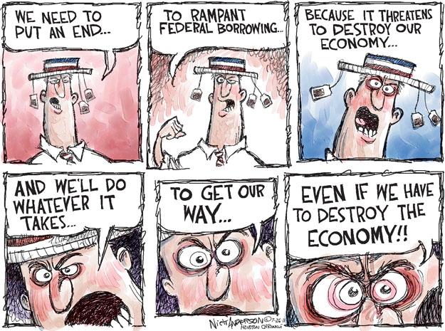 Cartoonist Nick Anderson  Nick Anderson's Editorial Cartoons 2011-07-26 federal debt
