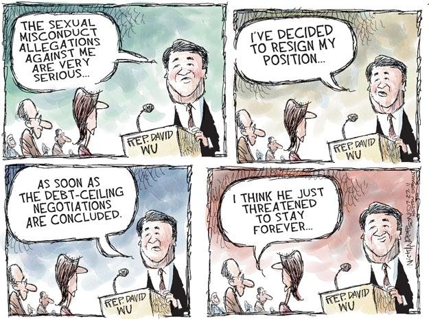 Cartoonist Nick Anderson  Nick Anderson's Editorial Cartoons 2011-07-27 federal debt