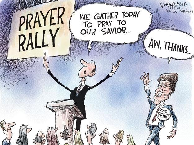 Nick Anderson  Nick Anderson's Editorial Cartoons 2011-08-04 2012 election religion